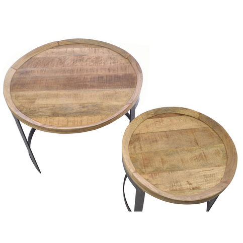 Old Empire Round Nest of Tables