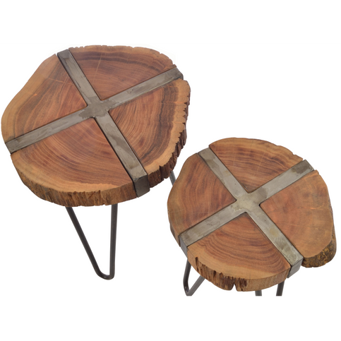 Old Empire Freeform Nest of Tables