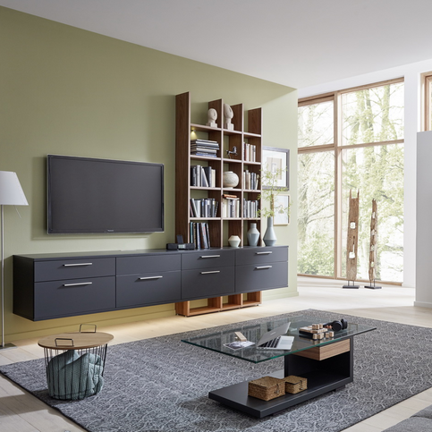 AT93_U8-25R_U8-25L_CT404-110 in Anthracite lacquer and walnut