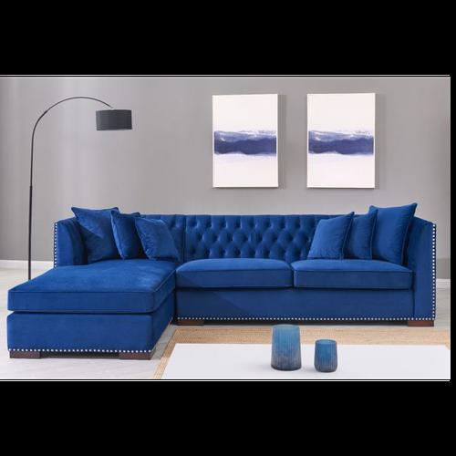 Chesterfield Corner Sofa Blue
