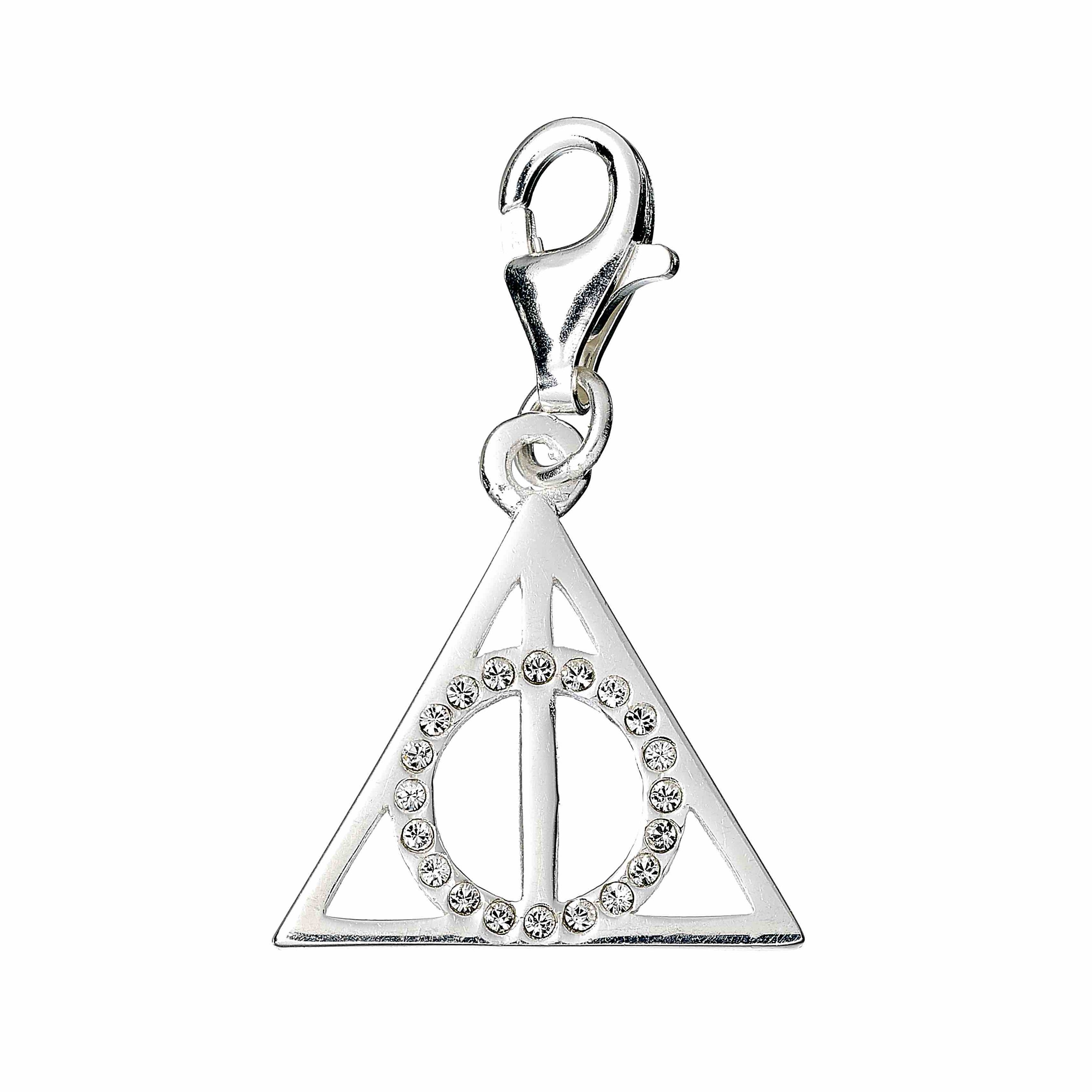 8f2e751fc06e6 Official Harry Potter Deathly Hallows Clip-on Charm Embellished with ...