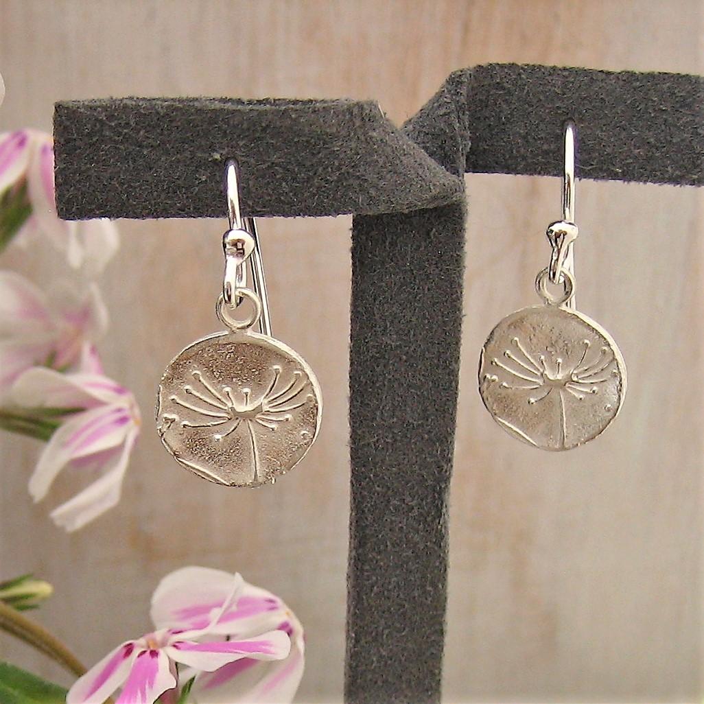 b24939ce5 Artisan Britannia silver 958 'Agapanthus' earrings