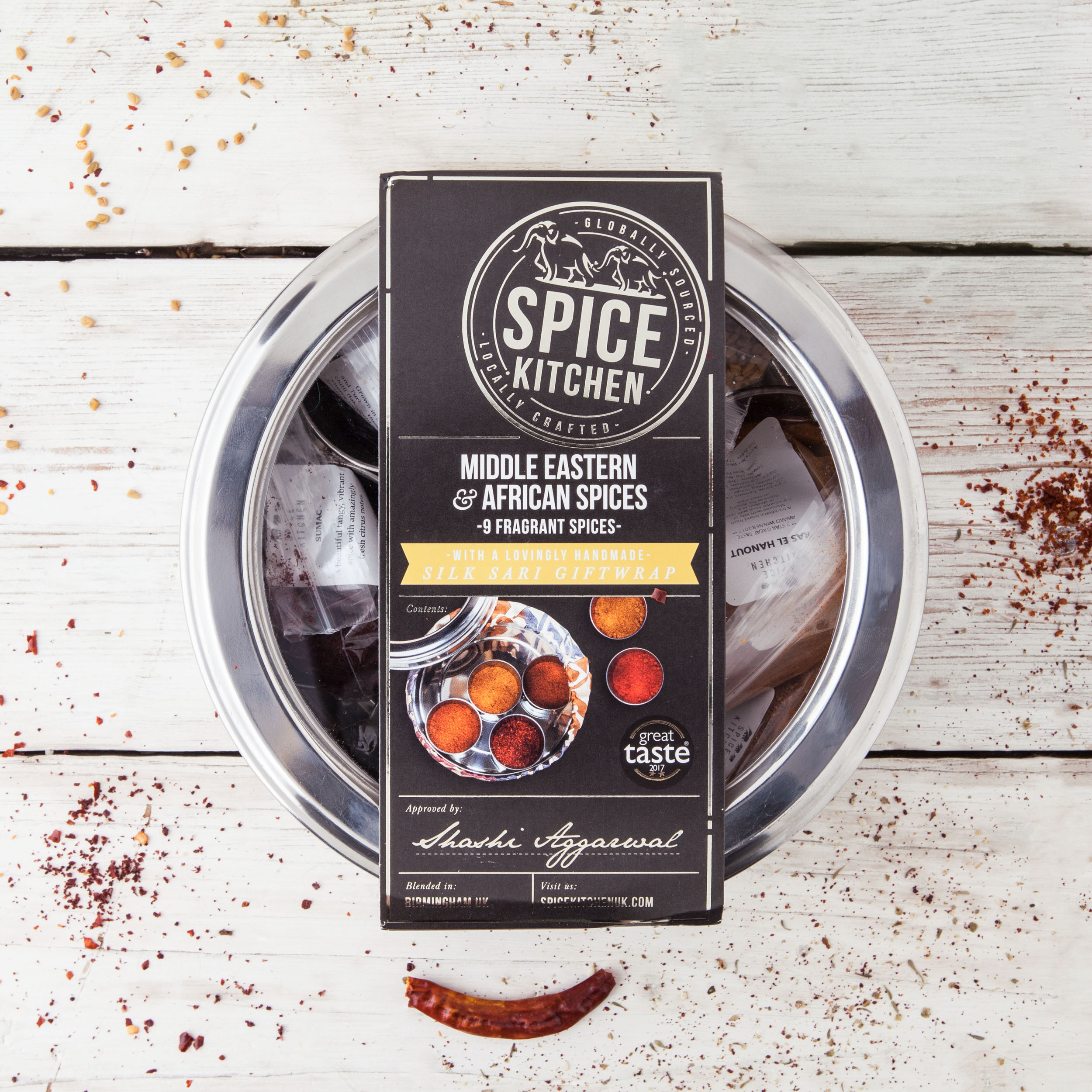 AFRICAN & MIDDLE EASTERN SPICE TIN WITH 9 SPICES