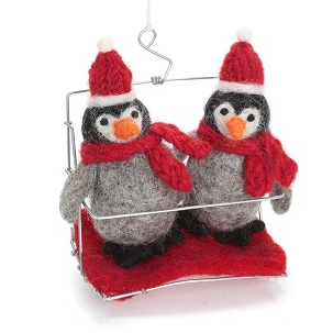 Penguins in Ski Lift