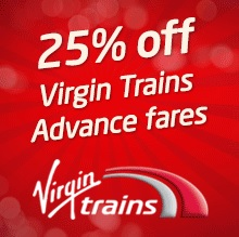 25% off Virgin trains to NEC events