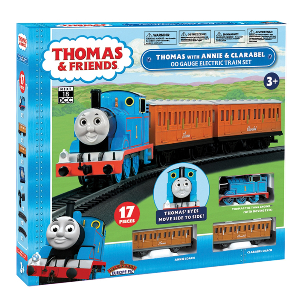 00642BE Thomas with Annie & Clarabel OO Scale Electric Train Set