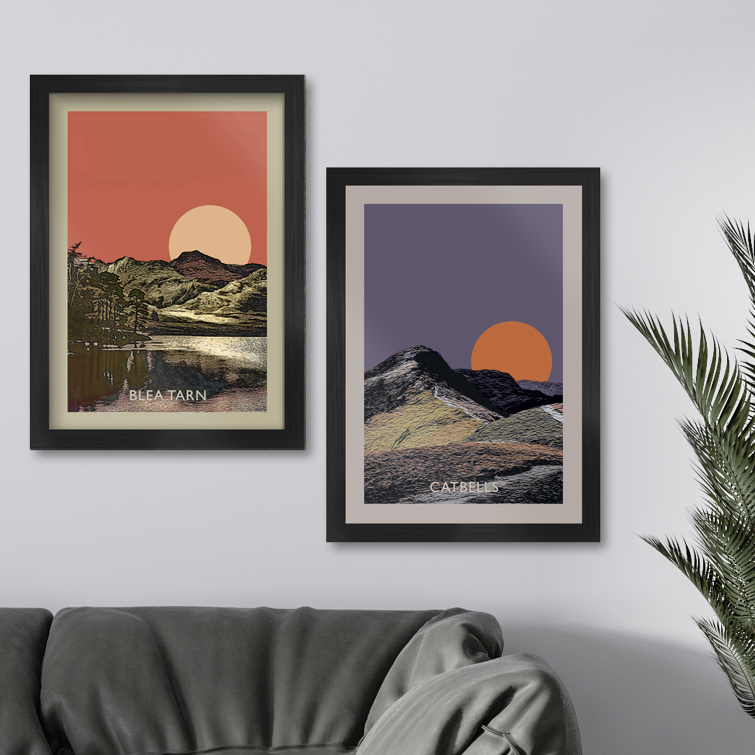 Blea Tarn and Catbells Sunset - Lake District Poster Print
