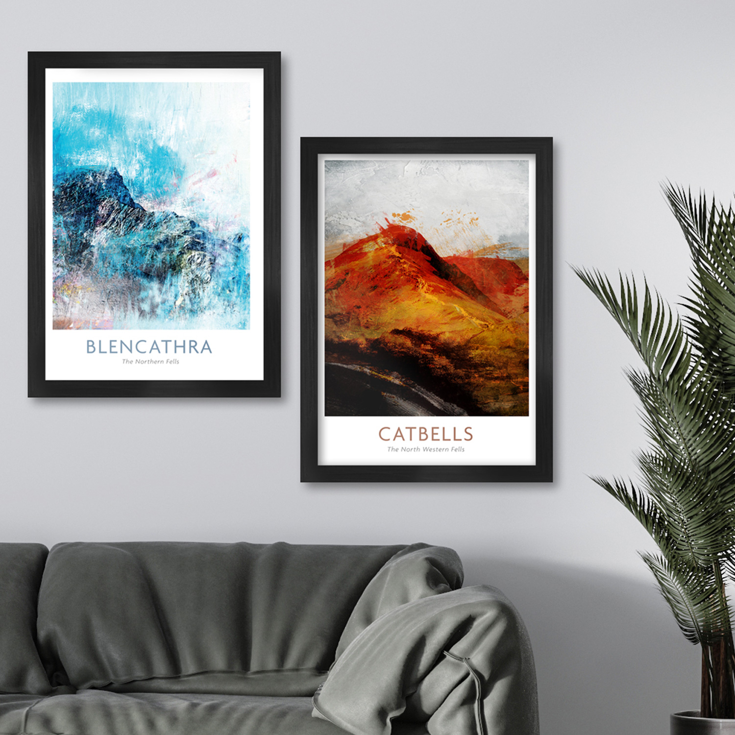 Blencathra and Catbells fell posters