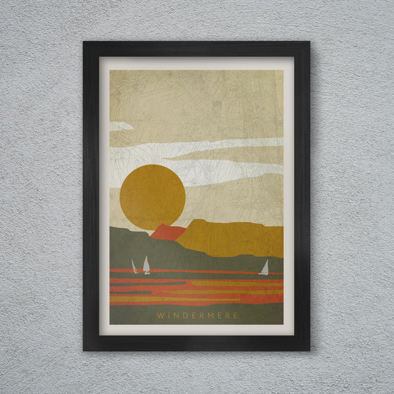 Windermere - the lake poster print