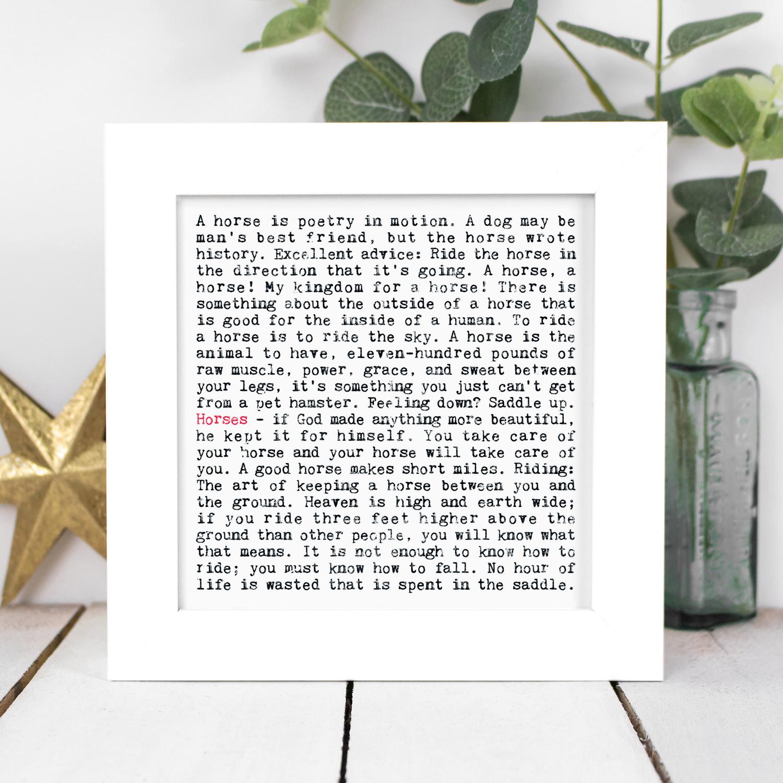 130+ 'Wise Words' Framed Prints