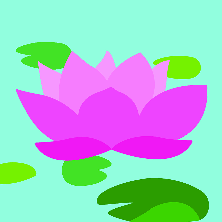 WATER LILIES: PINK