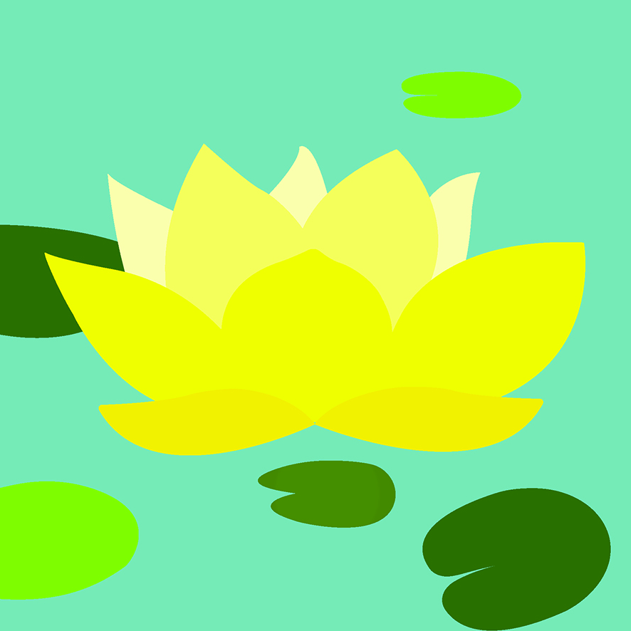 WATER LILIES: YELLOW