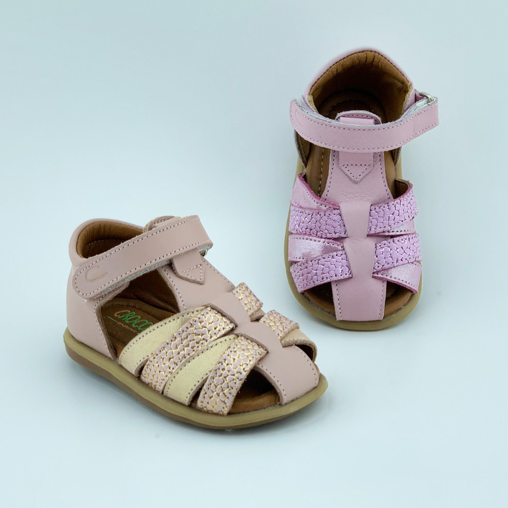 001L Leather Baby Girl Sandal