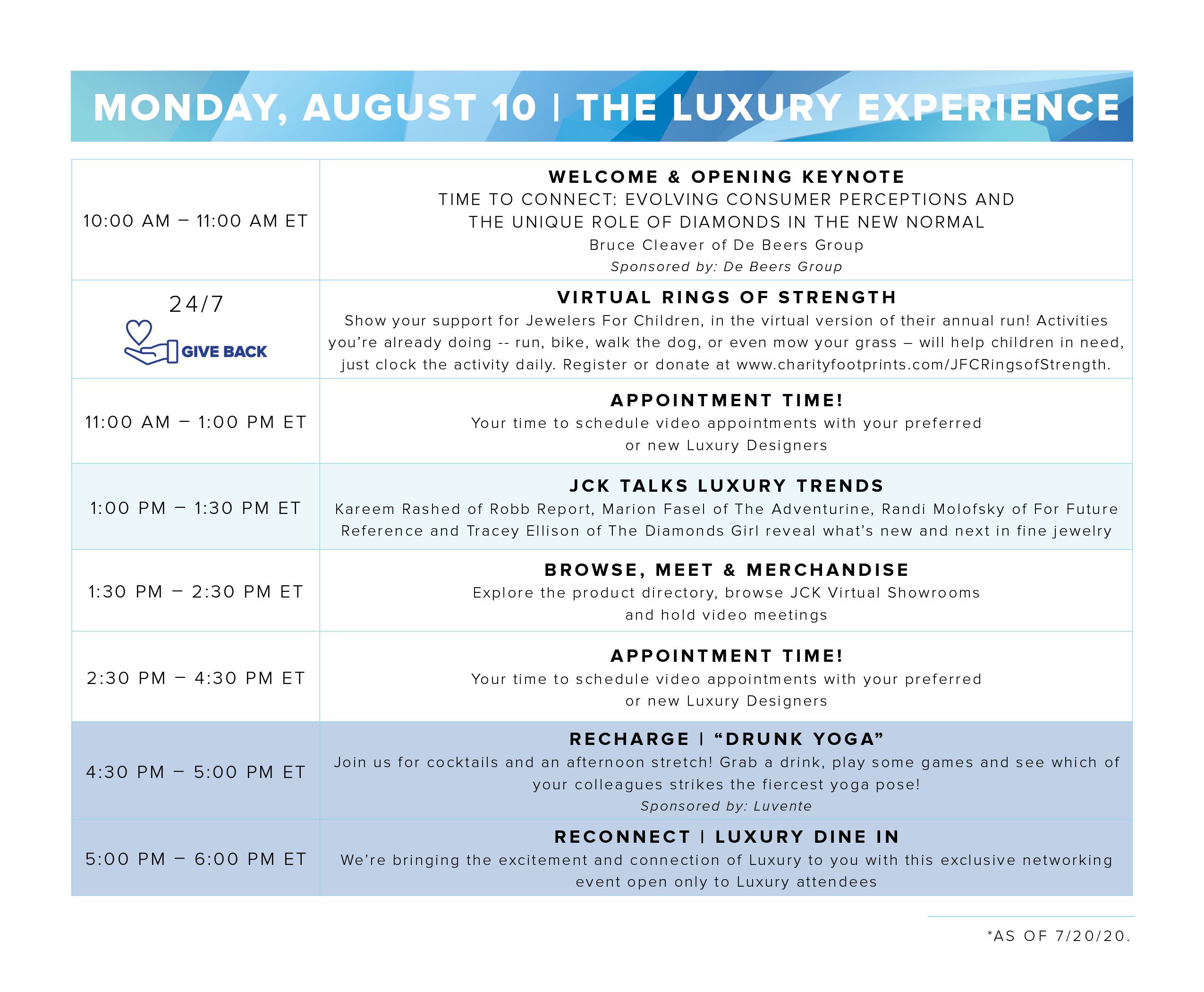 Luxury Experience Program