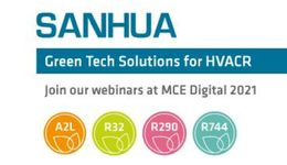 "SANHUA presents new ""Green Tech Solutions"" for natural refrigerants and A2L products ready for R455A/R454C"
