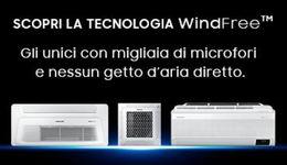 Samsung WindFree: comfort unico, qualità dell'aria e connettività.