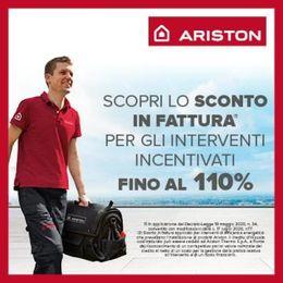 """""""Sconto in fattura"""" per gli interventi incentivati fino al 110%: l'offerta concreta e distintiva di Ariston, per il comfort del futuro"""