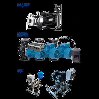Multistage pumps, In-line pumps, Pressure booster sets