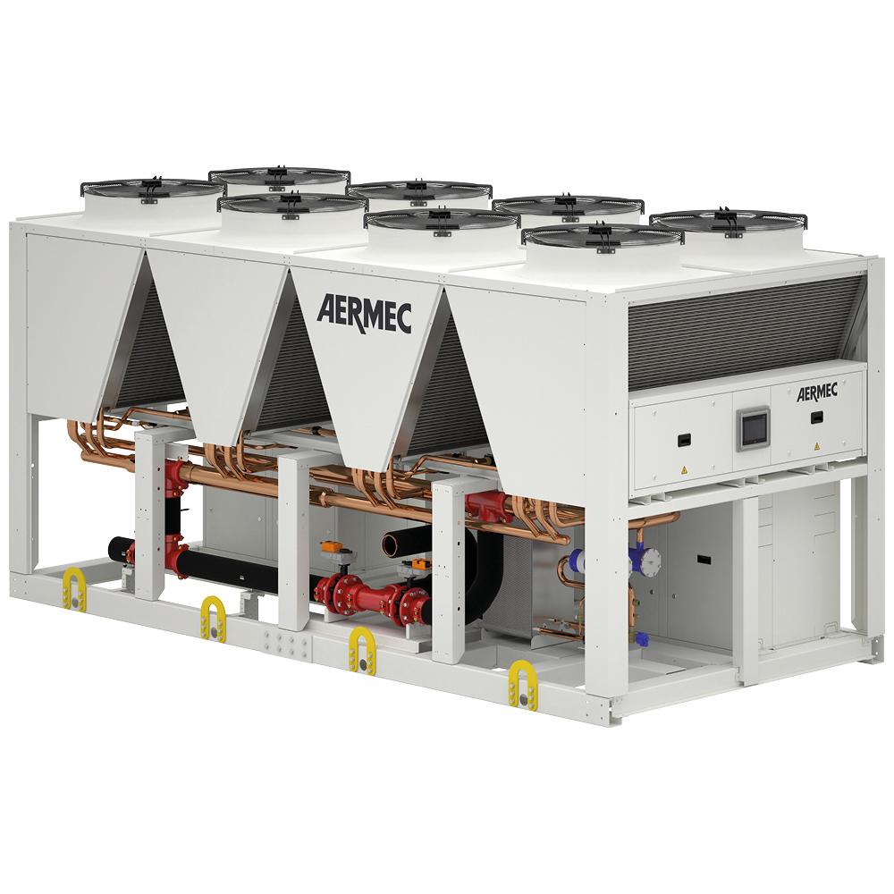NRB e NRBH. Refrigeratori e pompe di calore progettati con la massima attenzione alla versatilità, alla silenziosità e all'efficienza energetica.