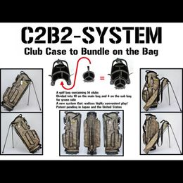 New golf bag C2B2-SYSTEM that is convenient for both golfers and courses