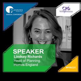 New speaker - Lindsey Richards, Head of Planning, Homes England