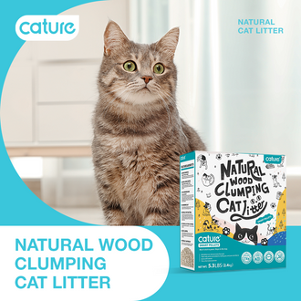 Natural  and Premium Wood Clumping Cat litter