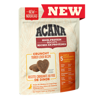 ACANA High-Protein Biscuits, Crunchy Turkey Liver Recipe Biscuits & Crunchy Dog Treats
