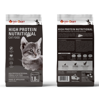 Go-Charr high protein nutritional formula cat food in pregnancy and lactation for kittens 高雀高蛋白孕哺营养配方幼猫粮