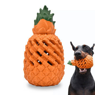 Pineapple Dog Interactive Chew Toys Non Toxic  Soft Rubber Dog Toy