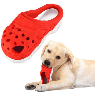 Slippers Dog Chew Toys for Aggressive Chewers - 100% Natural Rubber Grade Dog Chew Toy