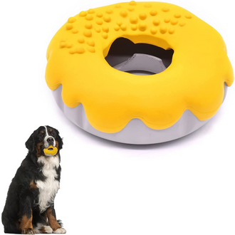 Donut Dog Toys for Aggressive Chewers for Teeth Cleaning, Interactive Dog Toys Reduces Boredom, Indestructible Dog Toys for Small Medium and Large Breed