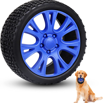 Durable Indestructible Interactive Natural Rubber Dog Chew Toy Tires