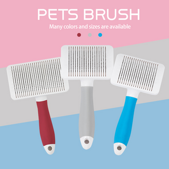 Self Cleaning Pet Grooming Massage Brush