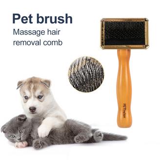 Wood Handle Pet Slicker Brush