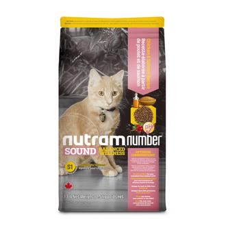 S1 NutramNumber Sound Kitten Food Chicken & Salmon Recipe/S5 NutramNumber Sound Adult & Senior Cat Food Chicken & Salmon Recipe