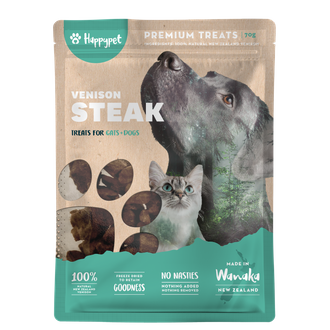 HappyPet Venison Steak / 鹿肉排 70g